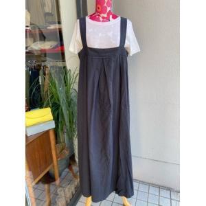 Vincent et Mireille / バンソン・エ・ミレイユ  タックジャンパースカート VM201LD29032-19ダークグレー magic-u-ladys