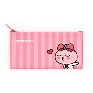 [(カカオフレンズ) Kakao friends] [リボンふれんず フラットペンケース ポーチ 事務用 小物入れ 文具 収納 ribbon friends flat pen case pouch] (並行輸入品)|magicdoor