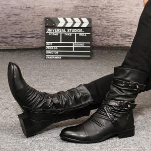 ショートブーツ メンズ カジュアルシューズ エンジニアブーツ メンズ 紳士靴 無地 大きいサイズ ハイカットシューズ 韓国ファション 2016秋冬新作