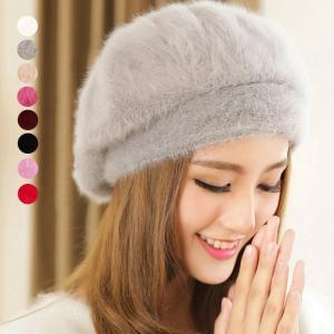 商品名:ベレー帽 帽子 レディース 冬 ぼうし 防寒 小物 キャップ 帽子 可愛い フェイクファー ...