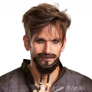 パイレーツ オブ カリビアン、ジャックスパロウの付けひげ三点セットです。鼻ひげ 口ひげ あごひげとも...