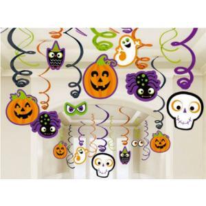 ハロウィン スウィールデコ ハロウィンファミリー 装飾 吊り飾り|magicnight