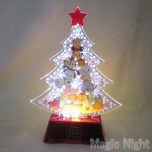LEDフラッシュプレート ディズニーツムツム クリスマス 置物 オブジェ