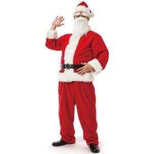 サンタクロース DX メンズ サンタ 衣装 コスチューム 白い手袋付き|magicnight
