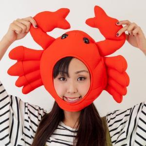 かにキャップ カニ かぶりもの 蟹 帽子...