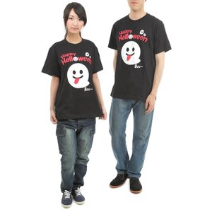 ハロウィン Tシャツ BOOおばけ ハロウィンスタッフTシャツ  男女兼用|magicnight