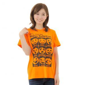 ハロウィン Tシャツ All Day Every Day ハロウィンスタッフTシャツ 男女兼用|magicnight