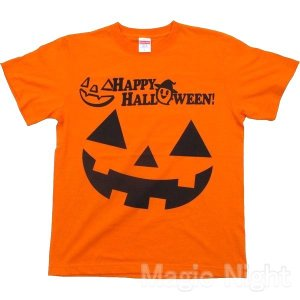 ハロウィン Tシャツ Double Pumpkins ハロウィンスタッフTシャツ ダブルパンプキン 男女兼用 仮装 コスプレ かぼちゃ オレンジ|magicnight