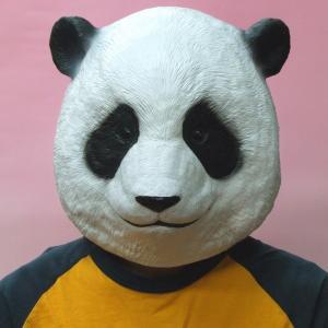 動物園の人気者!パンダのラバーマスクです。着用かんたんかぶるだけ。宴会や余興にピッタリなパーティーグ...