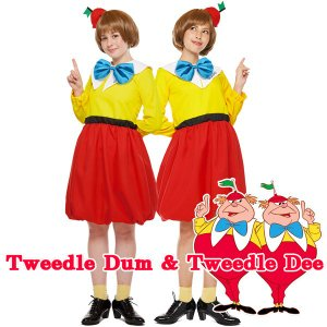 トゥイードルダムとトゥイードルディー 双子 コスチューム セット 女性用 magicnight