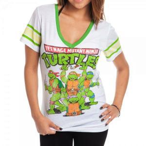 タートルズTシャツ Ninja Turtles レディース Vネック|magicnight