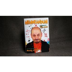 手品 マジック 書籍 Memorandum by Woody Aragon|magicu