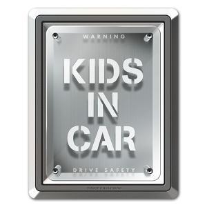 車ステッカー トリックアートデザイン  クリアパネル KIDS IN CAR キッズインカー 車マグ...