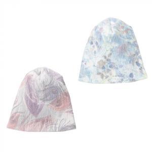 テンセル素材のおしゃれ帽 ブルー系 magochi