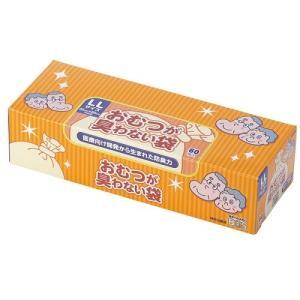 クリロン化成 おむつが臭わない袋 驚異の防臭袋 BOS大人用 LLサイズ 60枚入 驚きの消臭力
