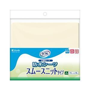リフレ 防水シーツ スムースニットタイプ Lサイズ (クリーム) 1枚|magokoro-s