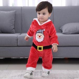 サンタ ロンパース カバーオール ベビー キッズ 子供服 あす楽 ベビー服 クリスマス サンタクロー...