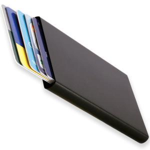 カードケース 薄型 5枚 収納 磁気防止 スライド式 アルミニウム メンズ 免許証入れ ポイント消化