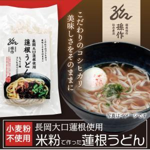 米の麺 蓮根うどん 5食パック 米粉麺 新潟県産コシヒカリ100%の米粉 グルテンフリー|magosaku-food