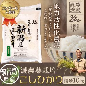 減農薬栽培米 コシヒカリ 精米 10Kg 新潟県産 こしひかり|magosaku-food