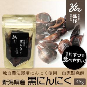 黒にんにく 45gパック 自社栽培のにんにくを使用 こだわり農家の黒にんにく|magosaku-food