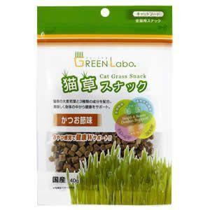 猫草スナック かつお節味 40g|magpet