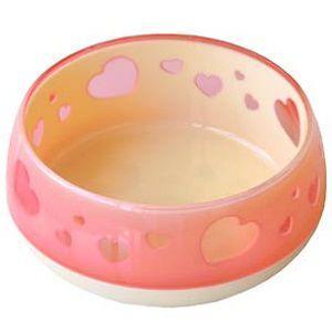 ペッツルート おいしく見えるワン食器 S ピンクハート|magpet