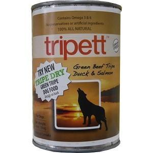 ペットカインド Tripett グリーンビーフトライプ ダック&サーモン 396g|magpet