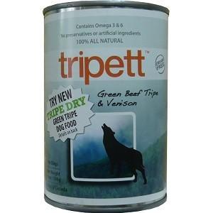ペットカインド Tripett グリーンビーフトライプ&ベニソン 396g|magpet