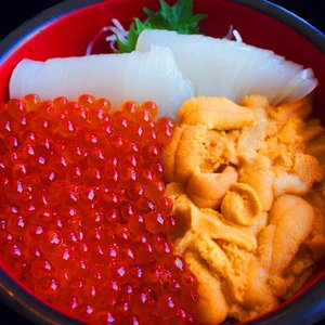 海鮮丼 約5杯分 ウニ200g イカソーメン200g イクラ100セット ギフト梱包/発泡保冷箱/ maguro-miyako