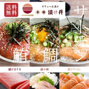 海鮮丼 3袋2セット 6人前 鮪漬け 鯛漬け サーモン漬け 手間なし かんたん 解凍して のせるだけ  mk13|maguro441