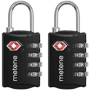 TSAロック ワイヤーロック 南京錠4桁 ダイヤル式ロック Metene 旅行用品 トラベルロック ...