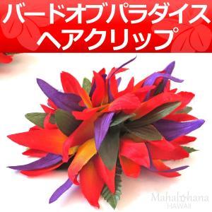 フラ ヘアクリップ ストレリチア (極楽鳥花) バードオブパラダイス (レッド)|mahalohana