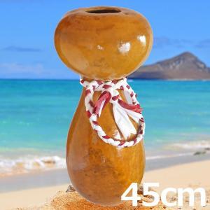 ハワイアン フラダンス 楽器 イプ ヘケ 高さ45cm カウラ付き 350g オアフ製|mahalohana