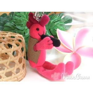 インディアン雑貨 ココペリ ストラップ (ピンク) アクセサリー 人形 ぬいぐるみ チェーン付|mahalohana