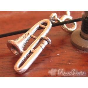 楽器 トロンボーン ペンダント/チャーム シルバー925雑貨アクセサリー|mahalohana