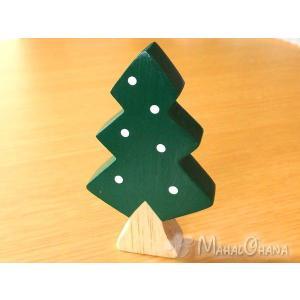 ぽれぽれ (クリスマスツリー/モミの木)木彫りギフト置物 ハンドメイド インテリア|mahalohana