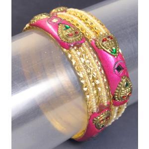 インドのバングル2本組み 装飾 チュリー インド雑貨 アジアン雑貨|mahanadi