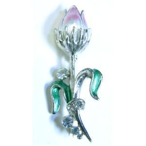 【ブローチ】タイ製 蓮の花を模したブローチ バッジ アジアン AC-BRCH201231-4|mahanadi