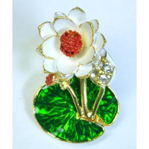 【ブローチ】タイ製 蓮の花を模したブローチ バッジ アジアン AC-BRCH201231-6|mahanadi
