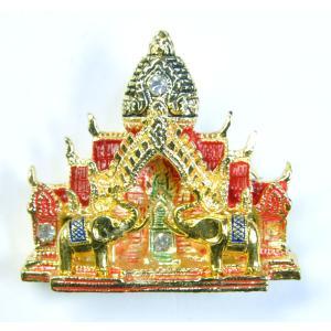 【ブローチ】タイのお寺を模したブローチ バッジ 仏教寺院 ワット テラワーダ アジアン AC-BRCH201231-8|mahanadi