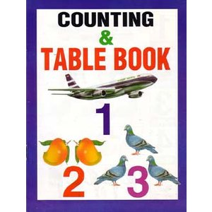 インドの算数独習本 『Counting & Table Book』  BO-LAN24|mahanadi