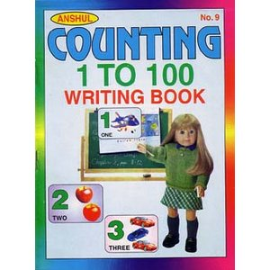 インドの数字書き取りノート 『Anshul Counting 1 to 100 Writing Book』  BO-LAN25|mahanadi