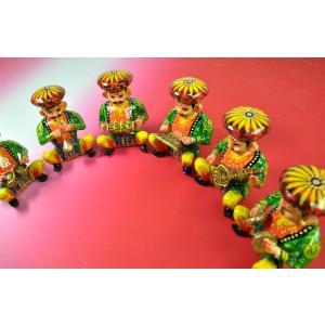 インドのキッチュな木製置物 民族楽団(バラ売り) 彩色 アジアン雑貨|mahanadi