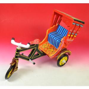 インドの輪タク・サイクルリクシャーの置物 アジアン雑貨 エスニック|mahanadi