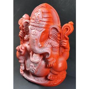 インドのレジン製ガネーシャ像 ヒンドゥー教 樹脂 神像 アジアン雑貨 エスニック DO-ST101|mahanadi