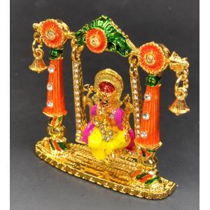 インド雑貨 ガネーシャのオブジェ ブランコ乗り マルチカラー 合金 ヒンドゥー教 ヒンズー エスニック DO-ST19314-9|mahanadi