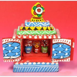 インドのジャガンナート三神の置物 祠型 (小) オリッサ インド雑貨 アジアン雑貨 DO-ST200|mahanadi