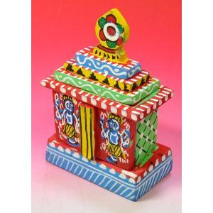 インドのジャガンナート三神の置物 祠型 (小) オリッサ インド雑貨 アジアン雑貨|mahanadi|02
