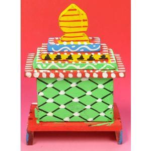インドのジャガンナート三神の置物 祠型 (小) オリッサ インド雑貨 アジアン雑貨|mahanadi|03